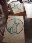 botellas stencil