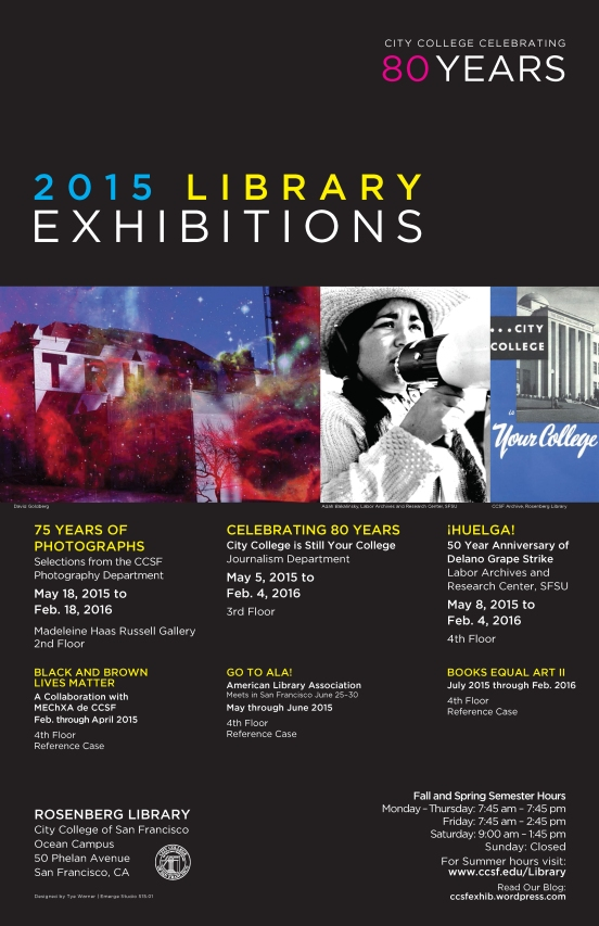 LIbrary Exhibitions 2015